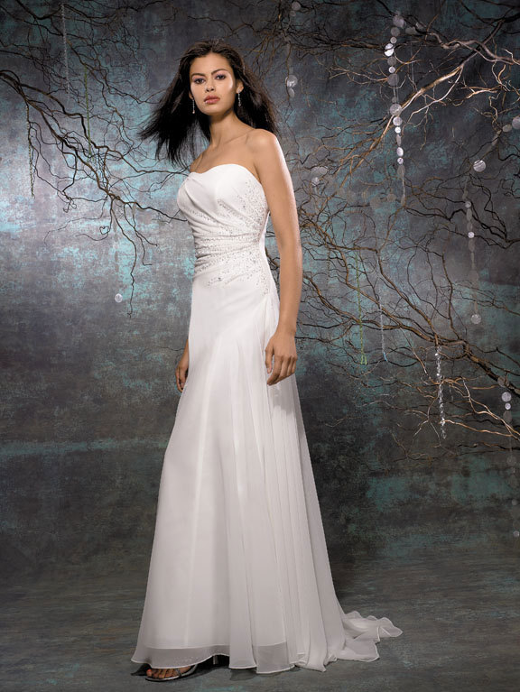 Wedding Dresses, Fashion, dress, Strapless, Strapless Wedding Dresses, Allure Bridals, Sheath, Sheath Wedding Dresses
