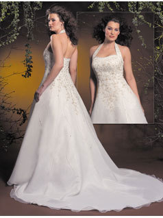 Wedding Dresses, A-line Wedding Dresses, Fashion, dress, A-line, Halter, Allure Bridals, halter wedding dresses