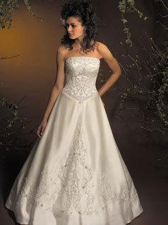Wedding Dresses, A-line Wedding Dresses, Fashion, dress, A-line, Beading, Allure Bridals, Beaded Wedding Dresses