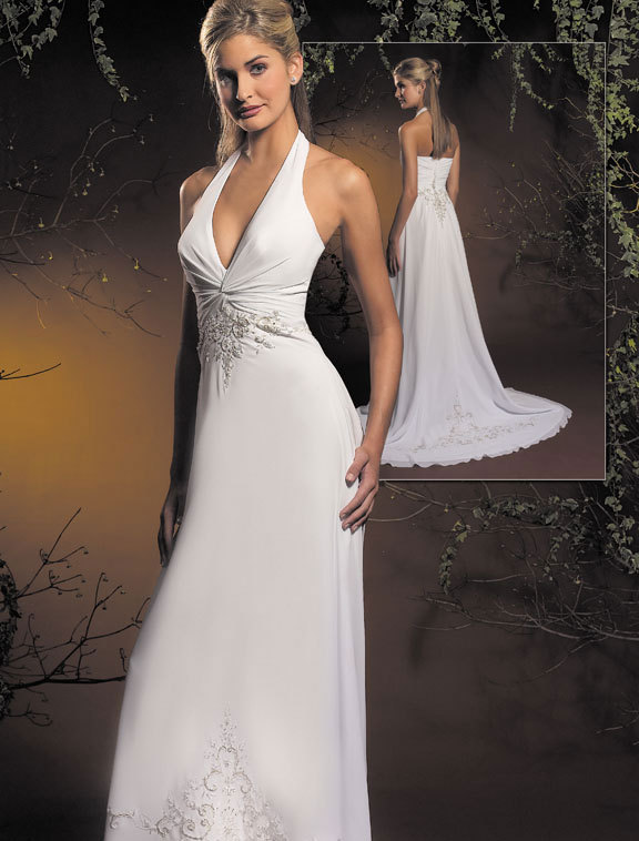 Wedding Dresses, Fashion, white, dress, Halter, Allure Bridals, halter wedding dresses