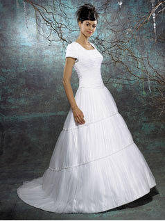 Wedding Dresses, A-line Wedding Dresses, Fashion, dress, A-line, Sleeves, Allure Bridals