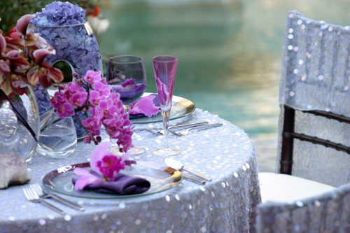 Reception, Flowers & Decor, Decor, purple, Flowers, Neil adams event resources
