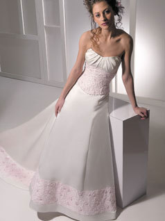 Wedding Dresses, Fashion, pink, dress, Strapless, Strapless Wedding Dresses, Allure Bridals
