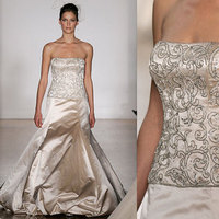 Wedding Dresses, Fashion, dress, Strapless, Strapless Wedding Dresses, Beading, Amsale, Beaded Wedding Dresses