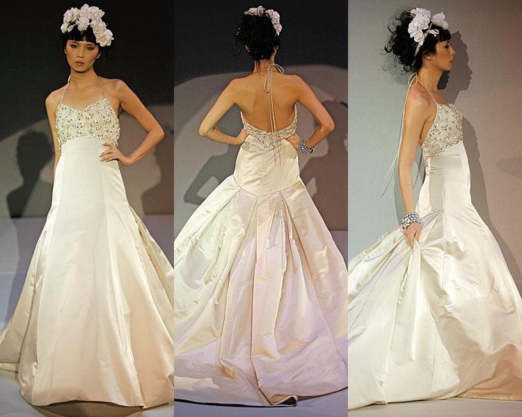 Wedding Dresses, Mermaid Wedding Dresses, Fashion, dress, Mermaid, Spaghetti straps, Empire, Amsale, Spahetti Strap Wedding Dresses
