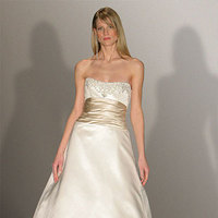 Wedding Dresses, Fashion, gold, dress, Strapless, Strapless Wedding Dresses, Sash, Amsale