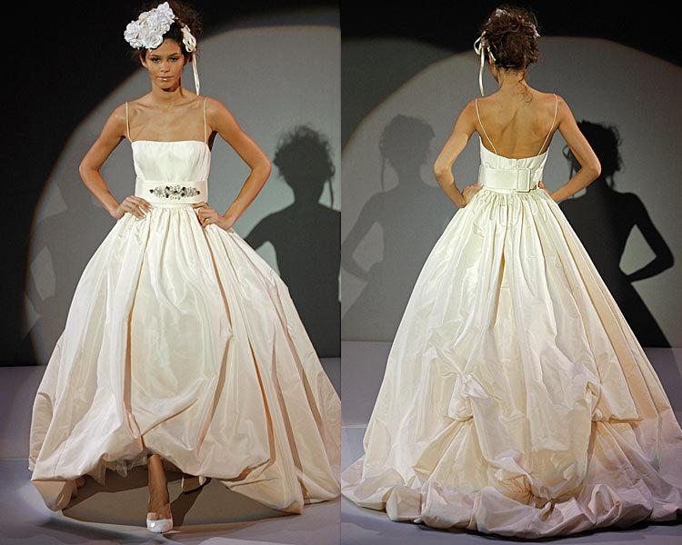 Wedding Dresses, Ball Gown Wedding Dresses, Fashion, dress, Spaghetti straps, Amsale, Ballgown, Spahetti Strap Wedding Dresses