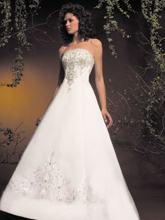 Wedding Dresses, A-line Wedding Dresses, Fashion, dress, Strapless, Strapless Wedding Dresses, A-line, Allure Bridals
