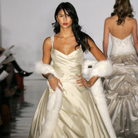 Wedding Dresses, Ball Gown Wedding Dresses, Fashion, gold, dress, Amsale, Ballgown, Shawl, Fur