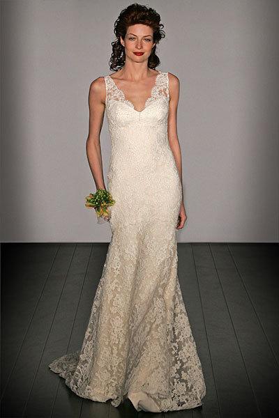 Wedding Dresses, Mermaid Wedding Dresses, Lace Wedding Dresses, Fashion, dress, Mermaid, Lace, V-neck, V-neck Wedding Dresses, Amsale