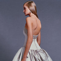 Wedding Dresses, Fashion, gold, dress, Train, Strapless, Strapless Wedding Dresses, Bustle, Amsale