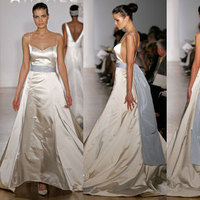 Wedding Dresses, Fashion, blue, dress, Spaghetti straps, Amsale, Spahetti Strap Wedding Dresses