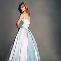 Wedding Dresses, Fashion, blue, dress, Train, Amsale