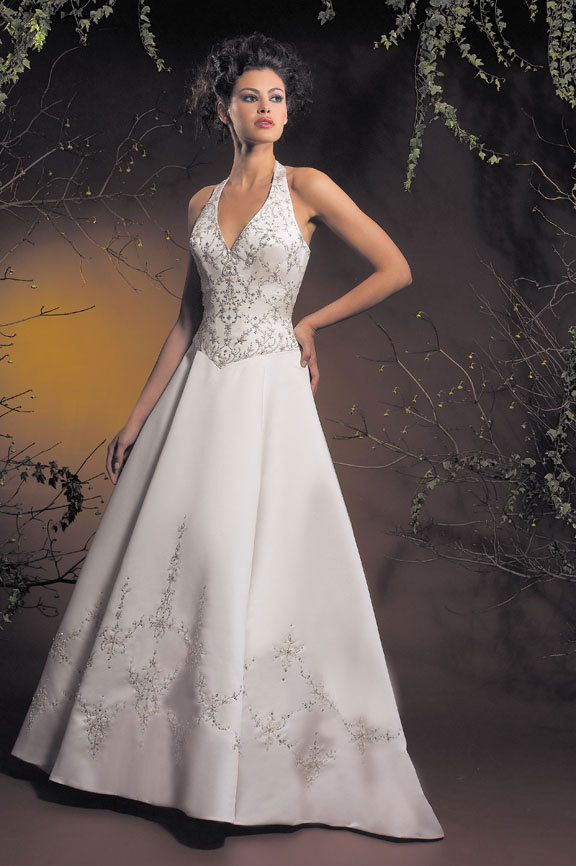Wedding Dresses, Fashion, dress, Beading, Halter, Allure Bridals, halter wedding dresses, Beaded Wedding Dresses