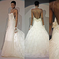 Wedding Dresses, Lace Wedding Dresses, Fashion, dress, Lace, Spaghetti straps, Amsale, Spahetti Strap Wedding Dresses