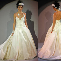 Wedding Dresses, Ball Gown Wedding Dresses, Fashion, dress, Spaghetti straps, Amsale, Ballgown, Spahetti Strap Wedding Dresses