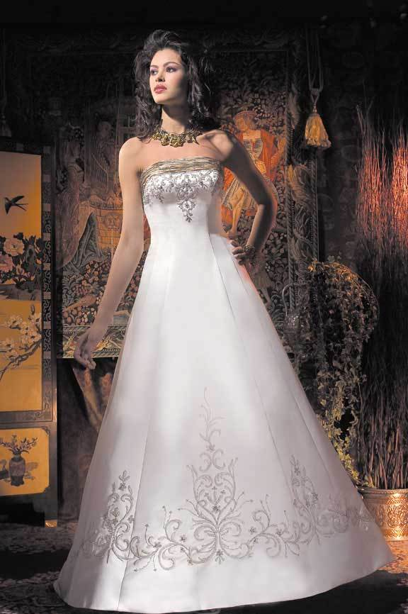 Wedding Dresses, Fashion, gold, dress, Strapless, Strapless Wedding Dresses, Allure Bridals