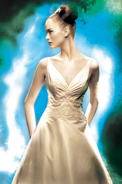 Wedding Dresses, A-line Wedding Dresses, Fashion, dress, A-line, V-neck, V-neck Wedding Dresses, Christos bridal