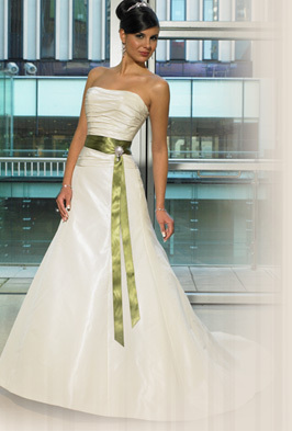 Wedding Dresses, Fashion, green, dress, Strapless, Strapless Wedding Dresses, Sash, Maggie Sottero