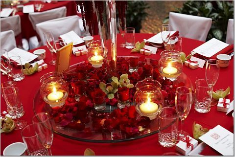Reception, Flowers & Decor, Decor, red, Flowers