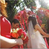 Ceremony, Flowers & Decor, red