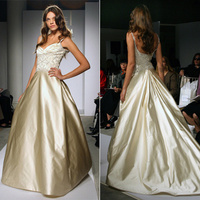 Wedding Dresses, A-line Wedding Dresses, Fashion, gold, dress, Jim hjelm, A-line