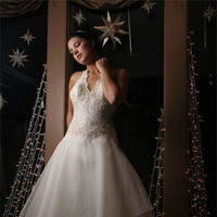 Wedding Dresses, A-line Wedding Dresses, Fashion, dress, A-line, Halter, Jinza bridal couture, halter wedding dresses