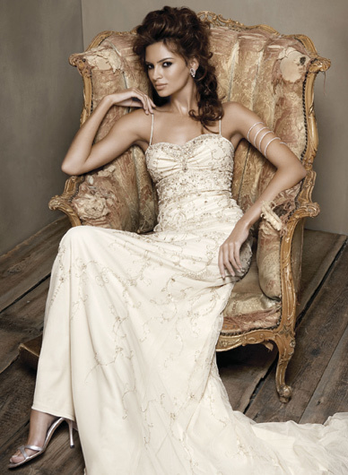 Wedding Dresses, Fashion, dress, Jim hjelm, Beading, Beaded Wedding Dresses