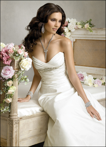 Wedding Dresses, Fashion, dress, Jim hjelm, Strapless, Strapless Wedding Dresses, Empire