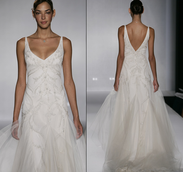 Wedding Dresses, Fashion, dress, Jim hjelm, V-neck, V-neck Wedding Dresses