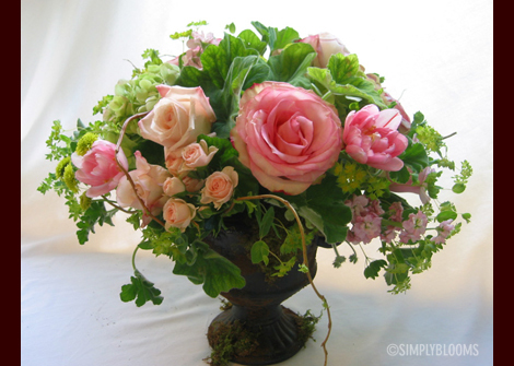 Flowers & Decor, pink, green, Centerpieces, Flowers, Centerpiece, Simply blooms