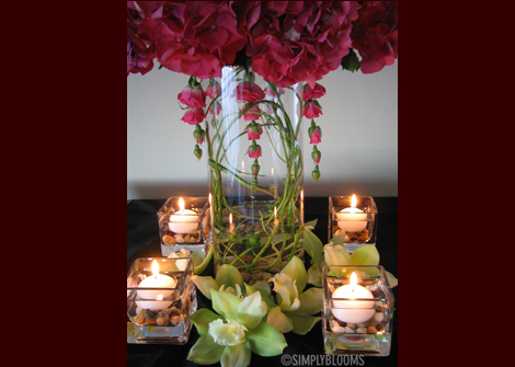 Flowers & Decor, pink, green, Candles, Flowers, Simply blooms