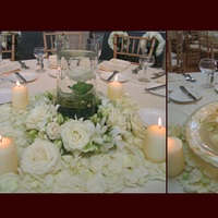 Reception, Flowers & Decor, white, Centerpieces, Candles, Flowers, Centerpiece, Simply blooms