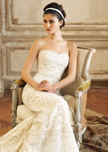Wedding Dresses, Fashion, dress, Jim hjelm, Strapless, Strapless Wedding Dresses, Beading, Beaded Wedding Dresses