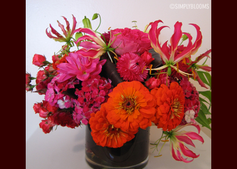Flowers & Decor, orange, pink, Flowers, Simply blooms