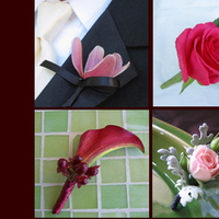 Flowers & Decor, pink, red, Boutonnieres, Flowers, Boutonniere, Simply blooms