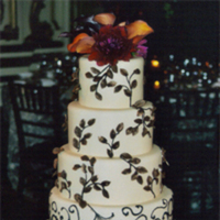 Cakes, orange, red, cake, Beaux gateaux celebration cakes
