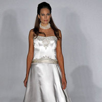 Wedding Dresses, A-line Wedding Dresses, Fashion, dress, A-line, Kenneth pool, Satin, satin wedding dresses
