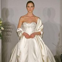 Wedding Dresses, Ball Gown Wedding Dresses, Fashion, dress, Strapless, Strapless Wedding Dresses, Ballgown, Kenneth pool, Satin, satin wedding dresses