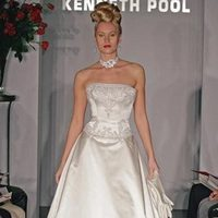 Wedding Dresses, A-line Wedding Dresses, Fashion, dress, Strapless, Strapless Wedding Dresses, A-line, Beading, Kenneth pool, Beaded Wedding Dresses