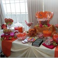 Cakes, orange, pink, cake, Dessert, Candy buffet