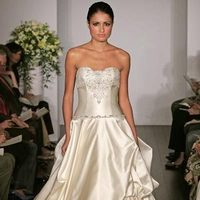 Wedding Dresses, A-line Wedding Dresses, Fashion, dress, Strapless, Strapless Wedding Dresses, A-line, Kenneth pool, Satin, satin wedding dresses