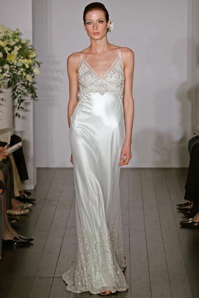 Wedding Dresses, Fashion, dress, V-neck, V-neck Wedding Dresses, Sheath, Kenneth pool, Sheath Wedding Dresses