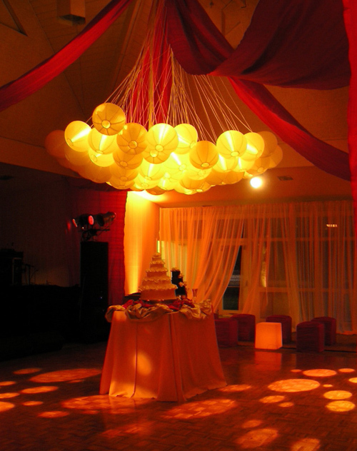 Reception, Flowers & Decor, Cakes, cake, Lighting, Got light