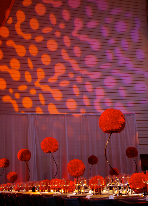 red, Centerpieces, Modern Wedding Flowers & Decor