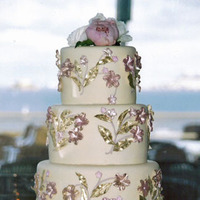 Cakes, pink, gold, cake, Beaux gateaux celebration cakes