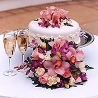 Cakes, ivory, purple, cake, Champagne, Perfect maui weddings