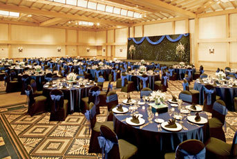 Reception, Flowers & Decor, blue, black, Sheraton maui