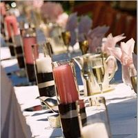 Reception, Flowers & Decor, pink, Candles