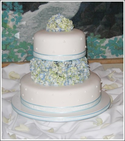 Flowers & Decor, Cakes, blue, cake, Flowers, Sweet traders, Hydrangea